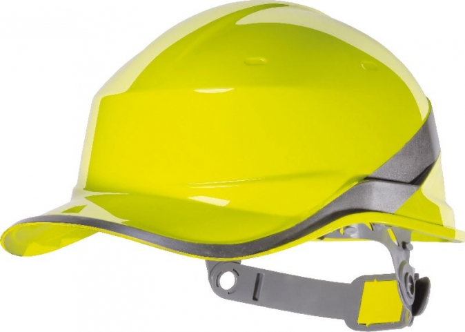 Ochranná průmyslová přilba BaseBall Diamond V reflexní pruhy vysoceviditelná žlutá