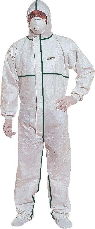 Kombinéza DELTATEC® 5000 multisafe zatavené švy kapuce bílá velikost L