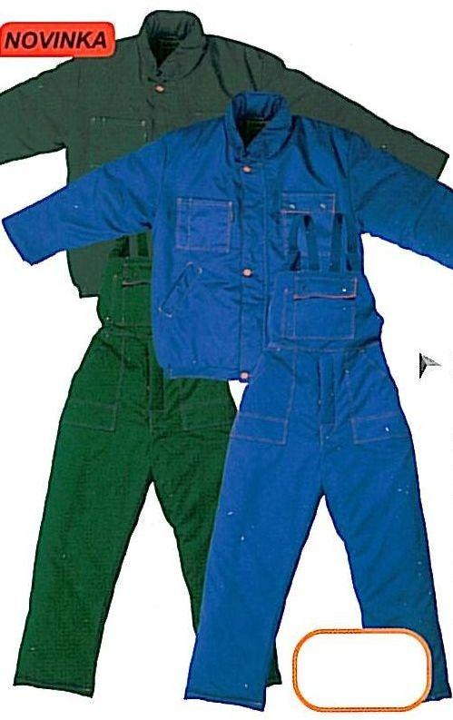 Montérková bunda MACH WINTER zateplená zelená velikost XL
