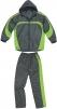 Oblek TIVANO šusťáková souprava kalhoty pas a bunda s kapucí šedo/zelený velikost XL