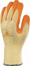 Rukavice VENITEX VE730 pletené dlaň a prsty potažené latexem oranžové velikost 10