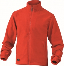 Mikina VERNON polar fleece zapínání na zip červená velikost S