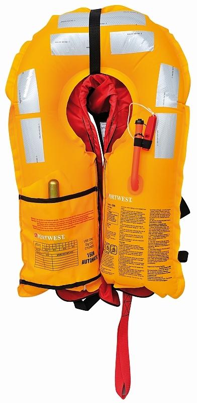 Záchranná automatická plovací vesta TRITON 150N žluto/červená