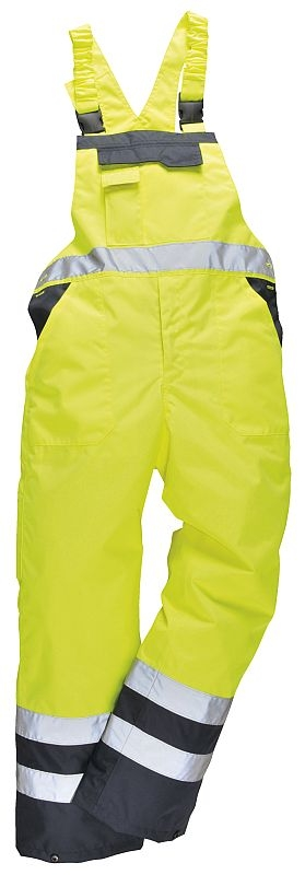Kalhoty DUO TERMO laclové zateplené nepromokavé vysoce viditelná žluto/modrá velikost XXL