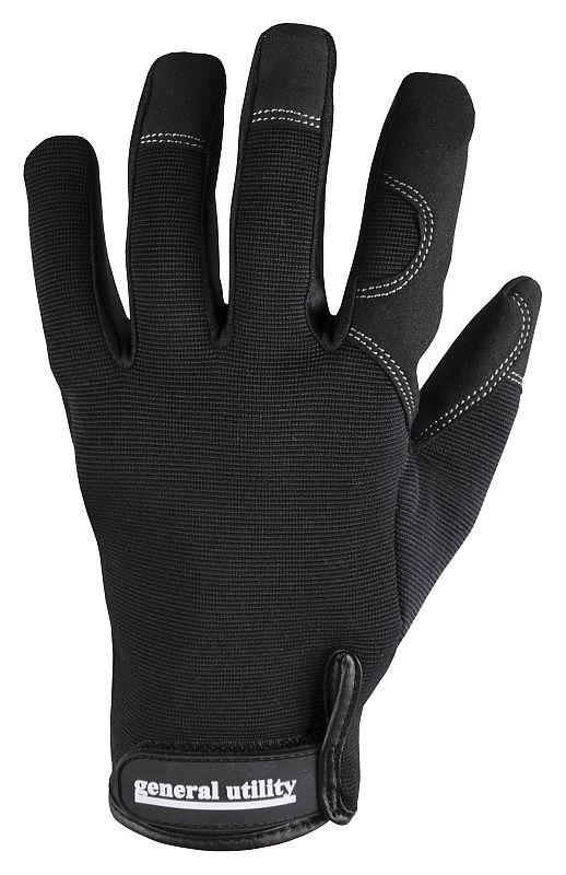 Rukavice BuildTex™ syntetická kůže/Lycra/Spandex černé velikost M