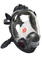 Celoobličejová maska SCOTT VISION 4000 filtr stranou silikonová žlutá lícnice
