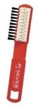 Kartáč SILVER AB1005 krepovaný údržba oděvu a obuvi pryž/štětiny oboustranný