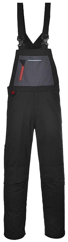 Montérkové kalhoty TEXO SPORT s laclem černo/šedé velikost XL