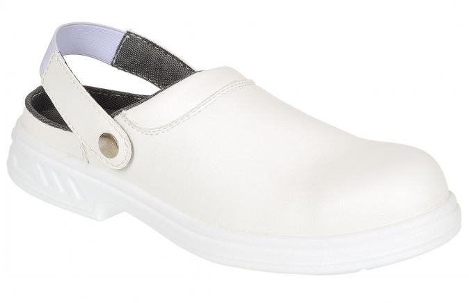 Obuv Steelite™ Safety Clog SB bezpečnostní pásek přes patu bílá velikost 46