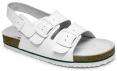 Obuv MAX pánský pantofel korková podešev pásek přes patu bílý