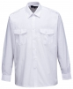 Košile PILOT s 2 kapsami na prsou dlouhý rukáv bílá velikost 44