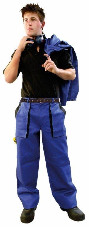 Montérkové kalhoty LUX JOSEF do pasu modro/černé velikost 48