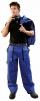Montérkové kalhoty LUX JOSEF do pasu modro/černé