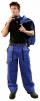 Montérkové kalhoty LUX JOSEF do pasu modro/černé velikost 56