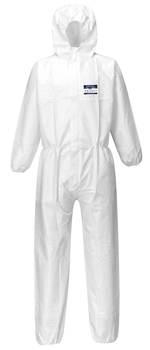 Kombinéza BIZTEX jednorázová kapuce bílá velikost XXL