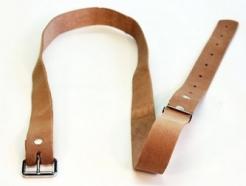 Silný kožený opasek šíře 3 cm délka 120 cm světlý