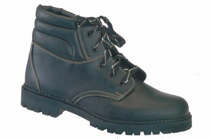 Pracovní obuv WIBRAM kožená zateplená protiskluzný dezén kotníčková černá velikost 48
