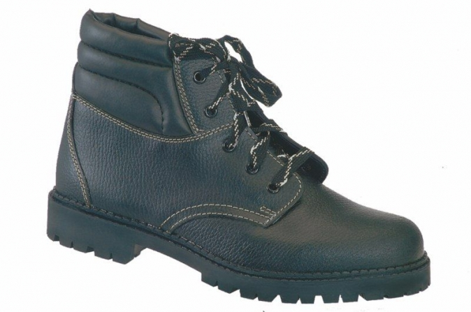 Pracovní obuv WIBRAM kožená zateplená protiskluzný dezén kotníčková černá velikost 47