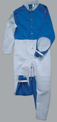Ochranná pracovní kombinéza pro tryskače materiál kůže/textil šedá velikost 50
