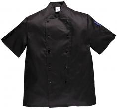 Kuchařský dvouřadý rondon KENT CHEFS krátký rukáv velikost XL
