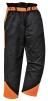 Kalhoty OAK do pasu pro práci s motorovou pilou černo/oranžové velikost S
