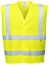 Ochranná výstražná vesta FR71 antistatická nehořlavá reflexní pruhy žlutá.XXXL