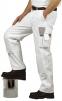 Montérkové kalhoty BOLTON PAINTERS do pasu bílé velikost L