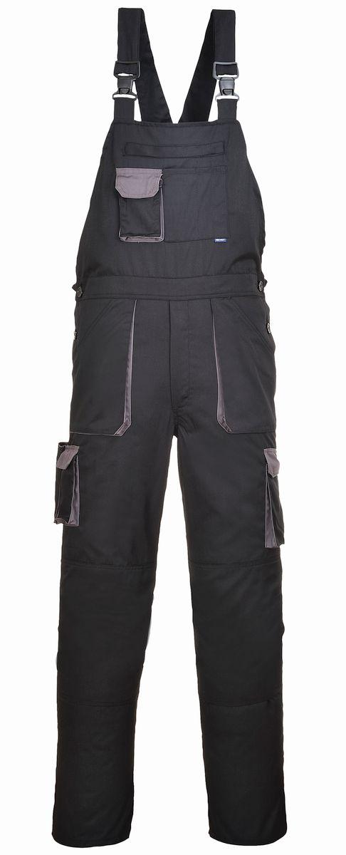Montérkové kalhoty TEXO s laclem černo/šedé prodloužená délka velikost XL
