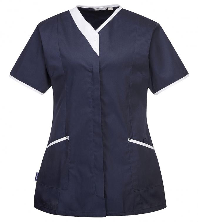 Tunika Modern dámská krátký rukáv tmavě modrá velikost M