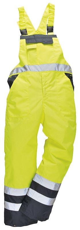 Kalhoty DUO TERMO laclové zateplené nepromokavé vysoce viditelná žluto/modrá velikost L