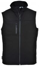 Softshellová vesta TECHNIK voděodolná a prodyšná černá velikost XL