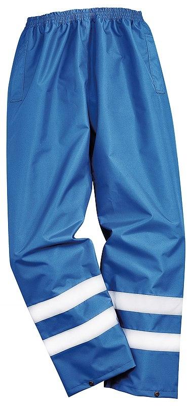 Kalhoty IONA Lite do pasu nepromokavé reflexní pruhy středně modré velikost XL