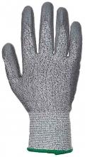 Rukavice CUTRESIST proti prořezu materiál HPPE/skelná vlákna máčené v PU šedé velikost XL