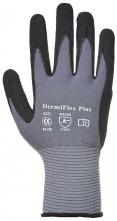 Rukavice Dermi Flex Plus nylonový úplet se Spandexem povrstvený PU a nitrilem šedé velikost L