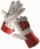 Rukavice EIDER kombinované zesílené červená bavlna/hovězí štípenka velikost 11