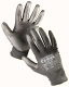 Rukavice CERVA BUNTING BLACK bezešvý nylonový úplet povrstvený polyuretanem černé