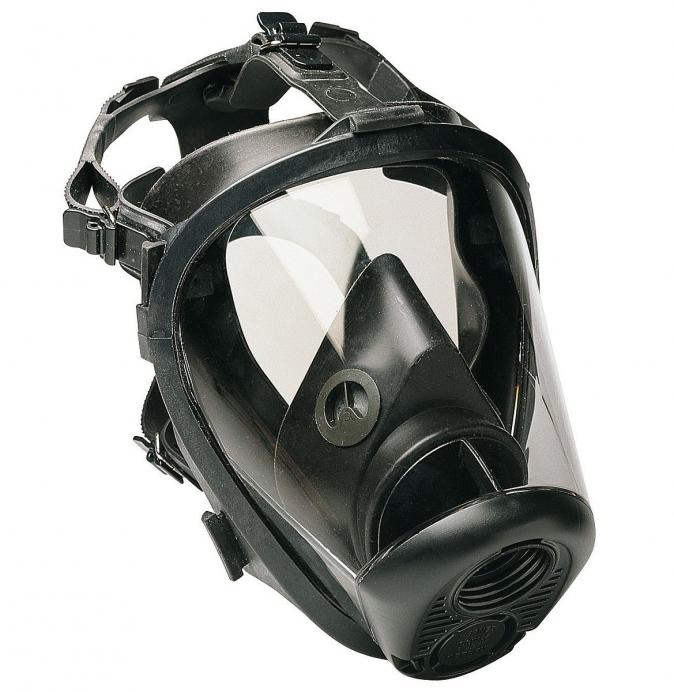 Celoobličejová maska SCOTT VISION přední připojení filtru žlutá silikonová lícnice