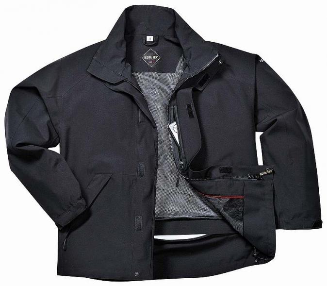 Bunda bomber GT33 GORE-TEX® Tuscon do pasu s kapucí černá velikost XL