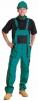 Montérkové kalhoty LUX EMIL s laclem zeleno/černé