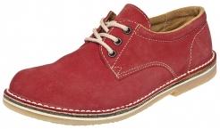 Obuv PAVLA RED šemišová polobotka dámská červená velikost 39