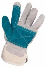 Rukavice FALCO hovězí štípenka zesílená v dlani a na ukazováčku jednoduchá manžeta velikost 10