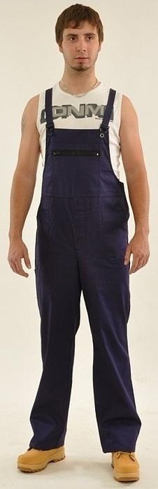Montérkové kalhoty STANDARD laclové tmavě modré velikost 58