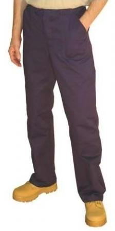 Montérkové kalhoty STANDARD do pasu na šňůrku tmavě modré velikost 50