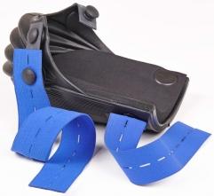 Pracovní nákoleník HARMONIKA sklady přes koleno prodloužený černý