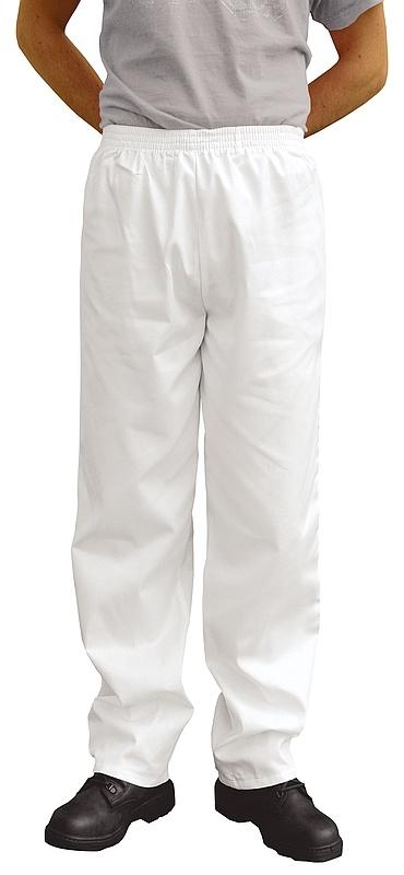 Kalhoty BAKER Fortis Plus elastický pas kapsy bílé velikost XS