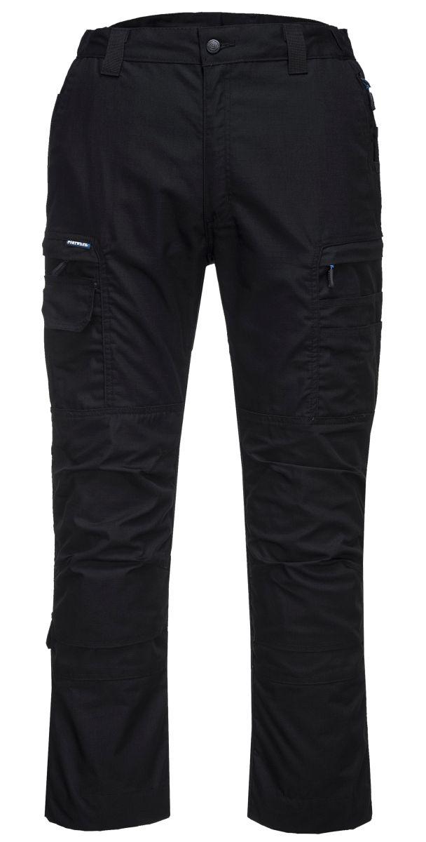 Kvalitní pracovní kalhoty Snickers XTR Canvas+ přídavné kapsy Cordura černé velikost 48