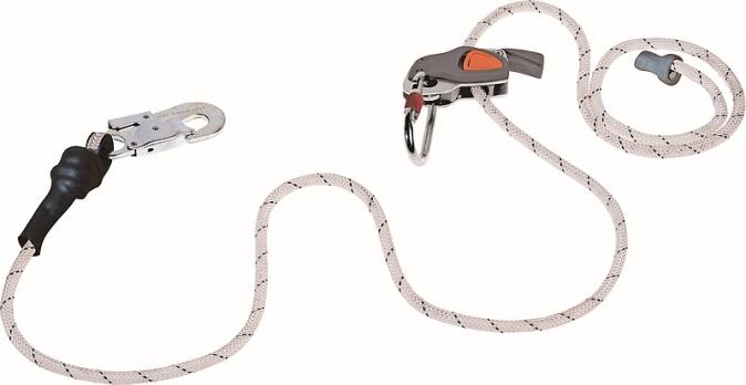 Souprava pro práci ve výšce lanová brzda CAMELEON opletené lano 4 m a karabina AM010