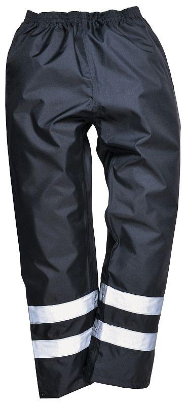 Kalhoty IONA Lite do pasu zateplené nepromokavé 2 reflexní pruhy tmavě modré velikost XL