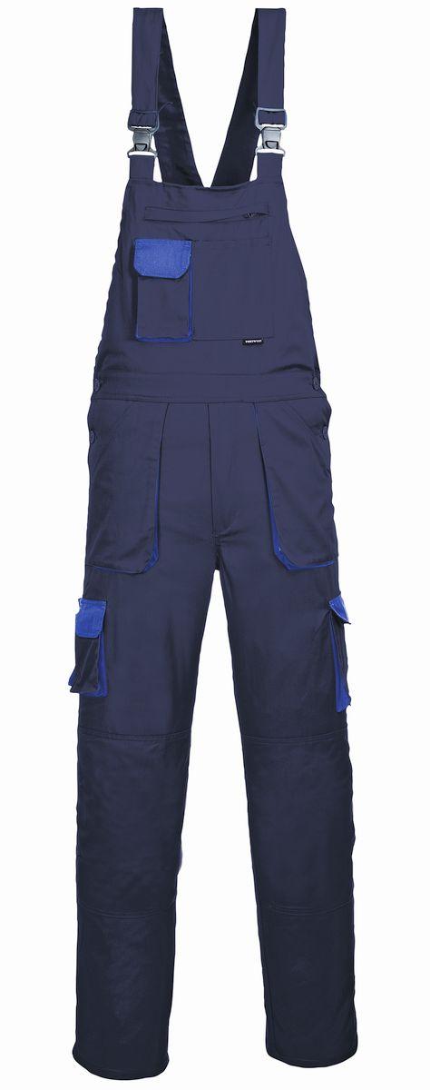 Montérkové kalhoty TEXO s laclem tmavě modro/světle modré velikost M