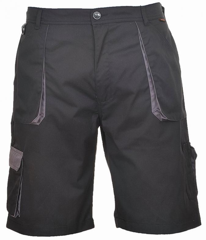 Krátké pracovní kalhoty TEXO Contrast černo/šedé velikost XXL